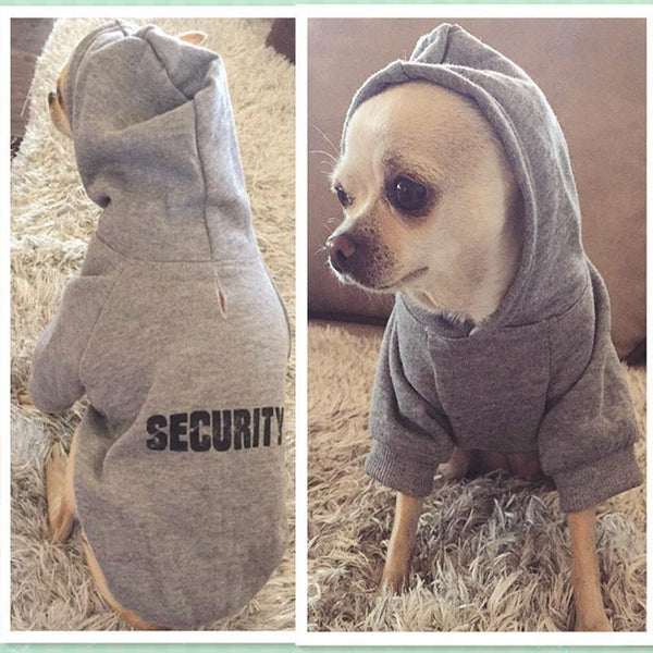 Hoodie for Small to Medium Dogs -8 Varieties Available Grey XS