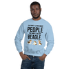 The More I Like My Beagle Men's Sweatshirt Light Blue S