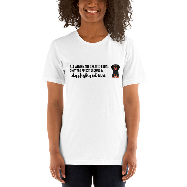 All Women Created Equal Dachshund T-Shirt White XS