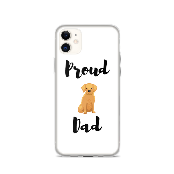 Proud Golden Retriever Dad iPhone Case