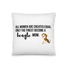 All Women Created Equal Beagle Pillow 18×18