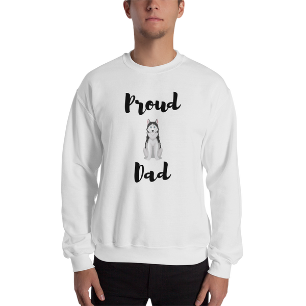 Proud Husky Dad Sweatshirt White S