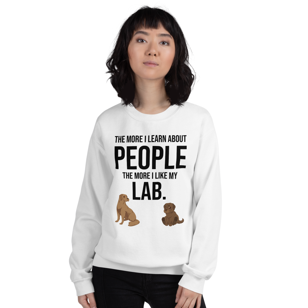 The More I Like My Lab Women's Sweatshirt White S