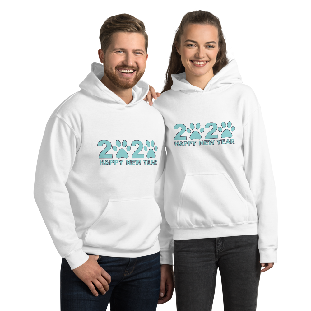 Blue Happy New Year 2020 Unisex Hoodie