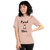 Proud Pitbull Mom T-Shirt Heather Prism Peach XS