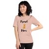 Proud Retriever Mom T-Shirt Heather Prism Peach XS