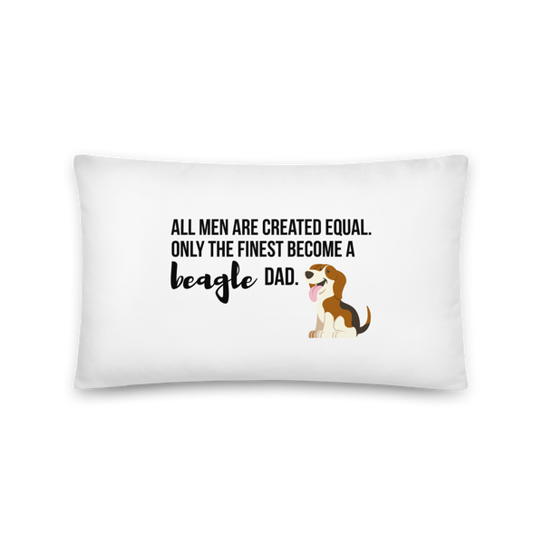 All Men Created Equal Beagle Pillow 20×12