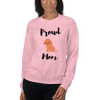 Proud Poodle Mom Sweatshirt Light Pink S