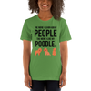 The More I Like My Poodle Women's T-Shirt Leaf S