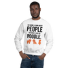 The More I Like My Poodle Men's Sweatshirt White S