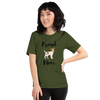 Proud Jack Russel Terrier Mom T-Shirt Olive S
