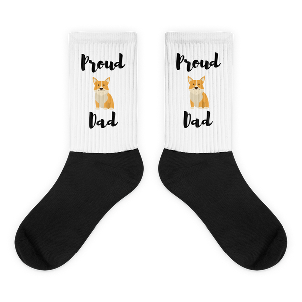 Proud Corgi Dad Socks M