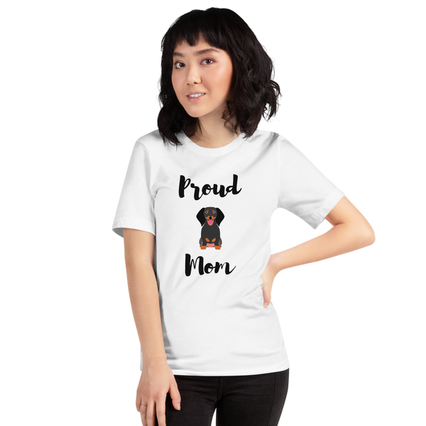Proud Dachshund Mom T-Shirt White XS