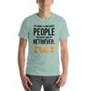 The More I Like My Retriever Men's T-Shirt Heather Prism Dusty Blue XS
