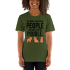 The More I Like My Poodle Women's T-Shirt Olive S