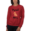 Proud Poodle Mom Sweatshirt Red S