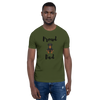 Proud Rottweiler Dad T-Shirt Olive S
