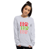 """Ho Ho Ho"" Unisex Long Sleeve Shirt Sport Grey S"