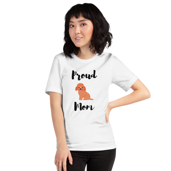 Proud Poodle Mom T-Shirt White XS