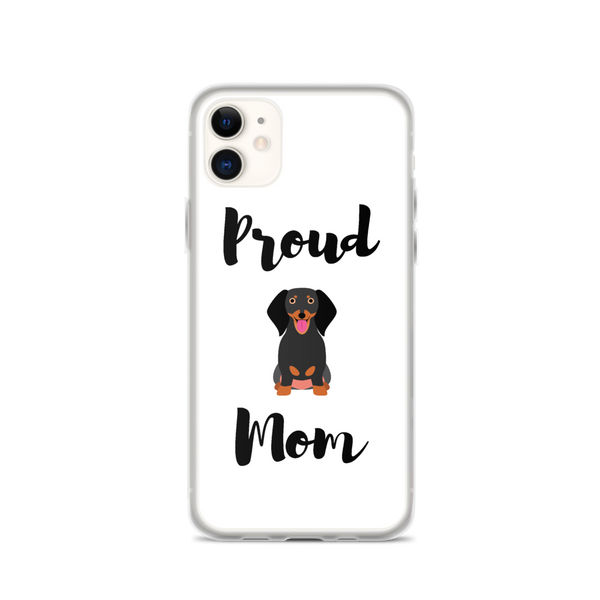 Proud Dachshund Mom iPhone Case