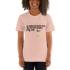 All Women Created Equal Pug T-Shirt Heather Prism Peach XS