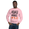 The More I Like My Poodle Men's Sweatshirt Light Pink S