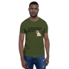 All Men Created Equal Pug T-Shirt Olive S