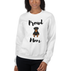 Proud Rottweiler Mom Sweatshirt White S