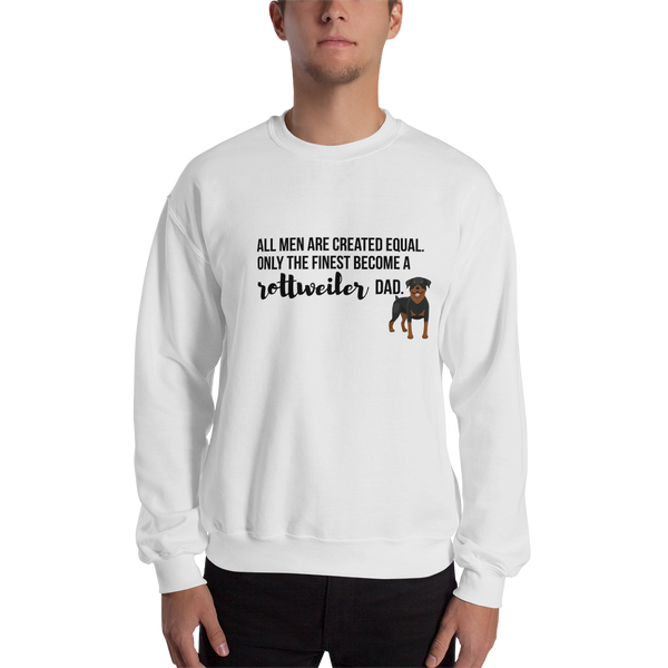 All Men Created Equal Rottweiler Sweatshirt White S