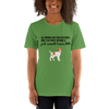 All Women Created Equal Jack Russel Terrier T-Shirt Leaf S