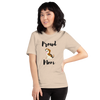 Proud Beagle Mom T-Shirt Heather Dust S