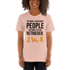 The More I Like My Retriever Women's T-Shirt Heather Prism Peach XS