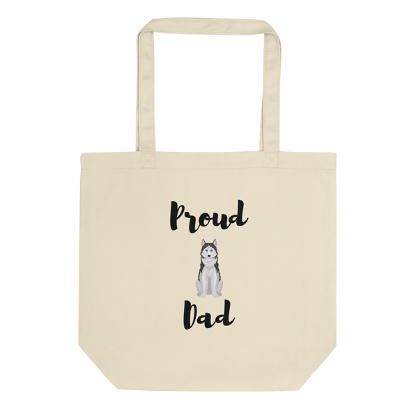 Proud Husky Dad Tote Bag