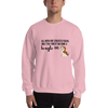 All Men Created Equal Beagle Sweatshirt Light Pink S
