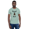 Proud Rottweiler Dad T-Shirt Heather Prism Dusty Blue XS