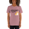 All Women Created Equal Corgi T-Shirt Heather Orchid S