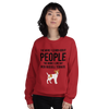 The More I Like My Jack Russel Terrier Women's Sweatshirt Red S
