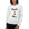 Proud Pitbull Mom Sweatshirt White S