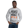The More I Like My Poodle Men's Sweatshirt Sport Grey S