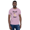 Proud Pug Dad T-Shirt Heather Prism Lilac XS