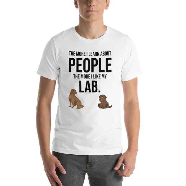 The More I Like My Lab Men's T-Shirt White XS