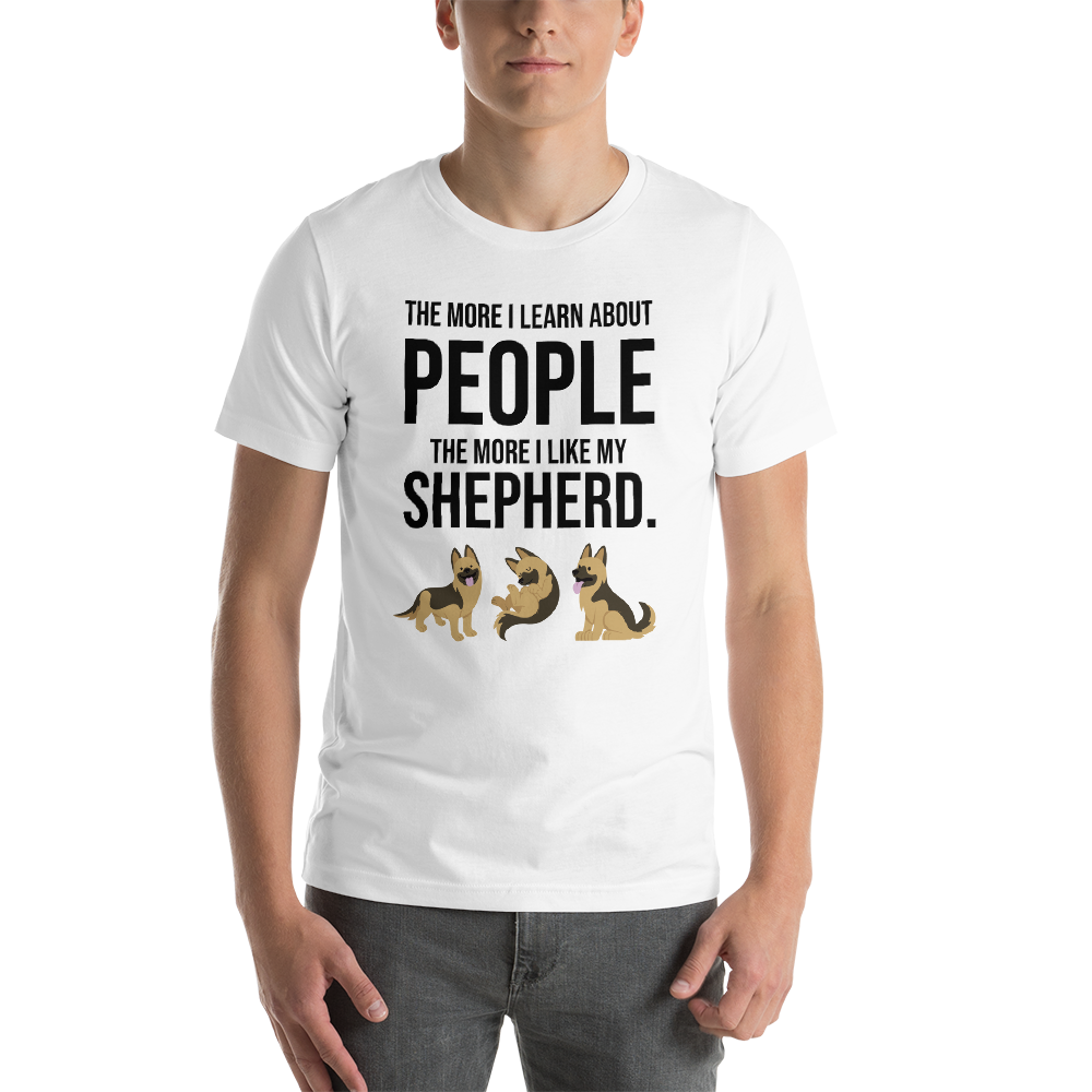 The More I Like My Shepherd Men's T-Shirt White XS