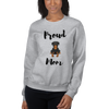 Proud Rottweiler Mom Sweatshirt Sport Grey S