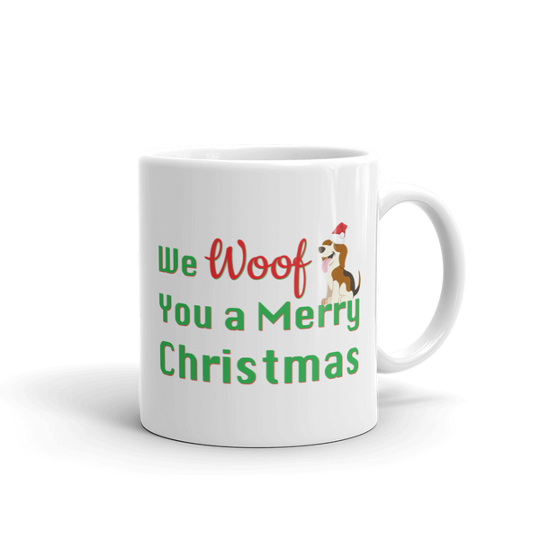 We Woof You A Merry Christmas Beagle Mug