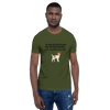 All Men Created Equal Jack Russel Terrier T-Shirt Olive S