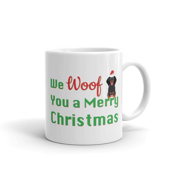 We Woof You A Merry Christmas Dachshund Mug
