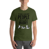 The More I Like My Husky Men's T-Shirt Olive S