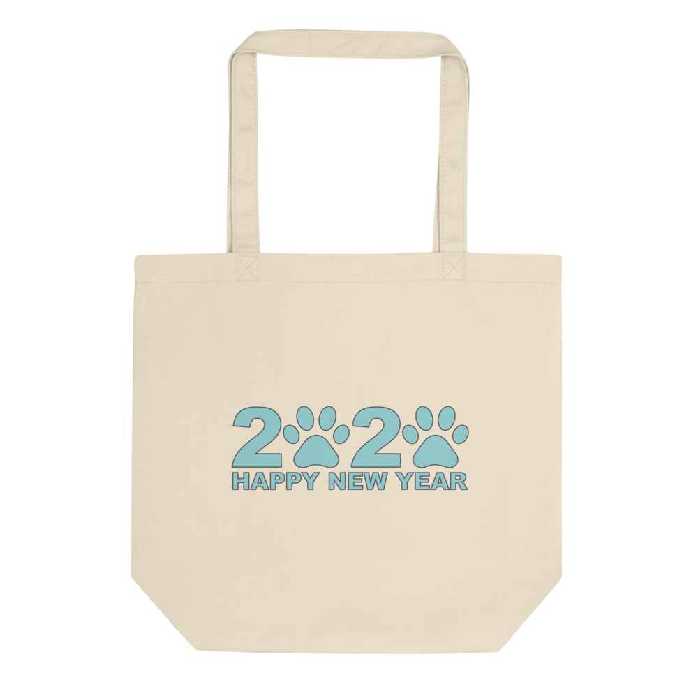 Blue Happy New Year 2020 Tote Bag