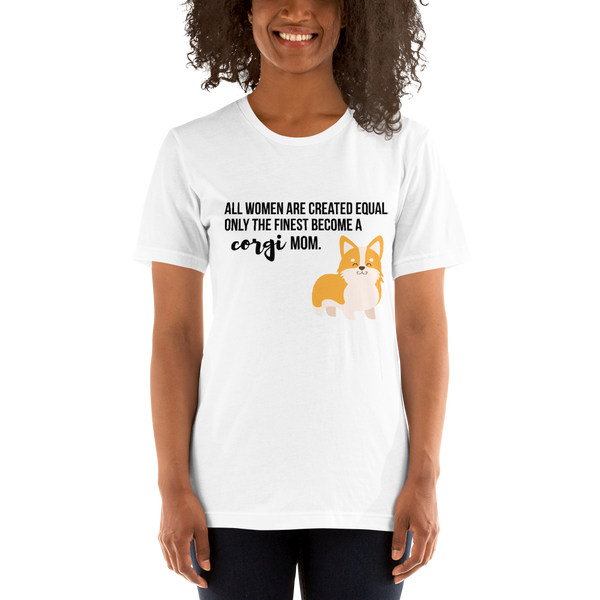 All Women Created Equal Corgi T-Shirt White XS