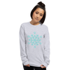 Blue Pawflake Unisex Long Sleeve Shirt Sport Grey S